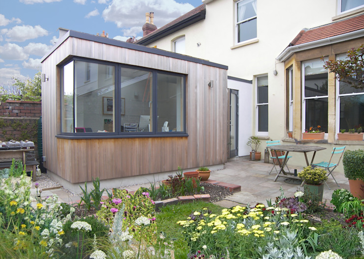Garden room for a writer Modern study/office by Dittrich Hudson Vasetti Architects Modern