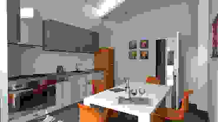 Ristrutturazione, Bologna Arch. Emanuele Tona Cucina minimalista