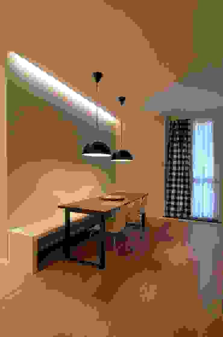 Ispirazione nordica Sala da pranzo minimalista di ministudio architetti Minimalista