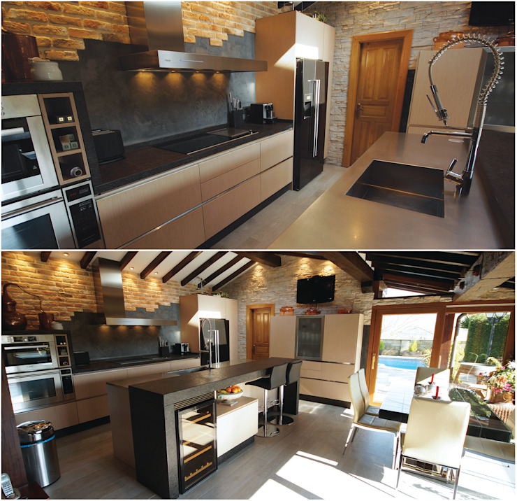 Rustic style kitchen by SOINCO Rustic