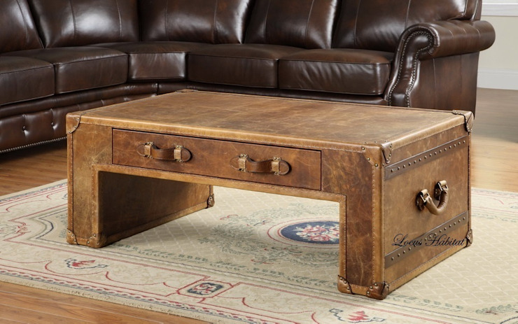 Leather Coffee Table from Locus Habitat: classic  by Locus Habitat,Classic