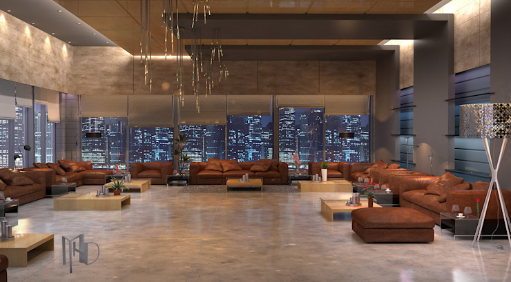 cam_02 Modern Oturma Odası MHD Design Group Modern