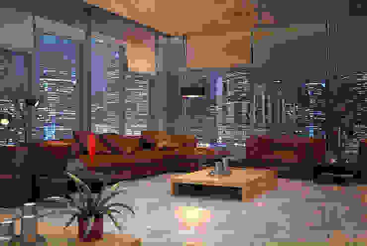 cam_03 Modern Oturma Odası MHD Design Group Modern