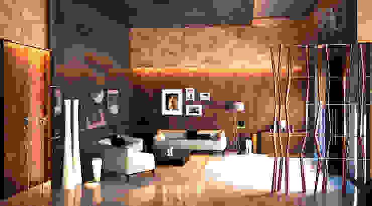 cam_01 Modern Oturma Odası MHD Design Group Modern