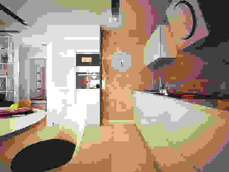 Квартира-студия в современном стиле Кухня в стиле минимализм от 'PRimeART' Минимализм