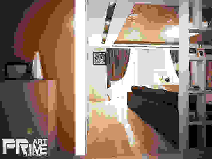 Квартира-студия в современном стиле Коридор, прихожая и лестница в стиле минимализм от 'PRimeART' Минимализм