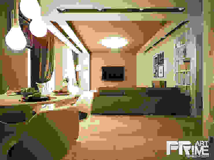 Квартира-студия в современном стиле Гостиная в стиле минимализм от 'PRimeART' Минимализм