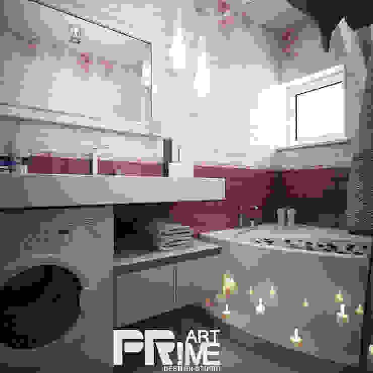 Квартира-студия в современном стиле Ванная комната в стиле минимализм от 'PRimeART' Минимализм