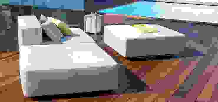 La terrasse te sa piscine Piscine moderne par Atelier TO-AU Moderne