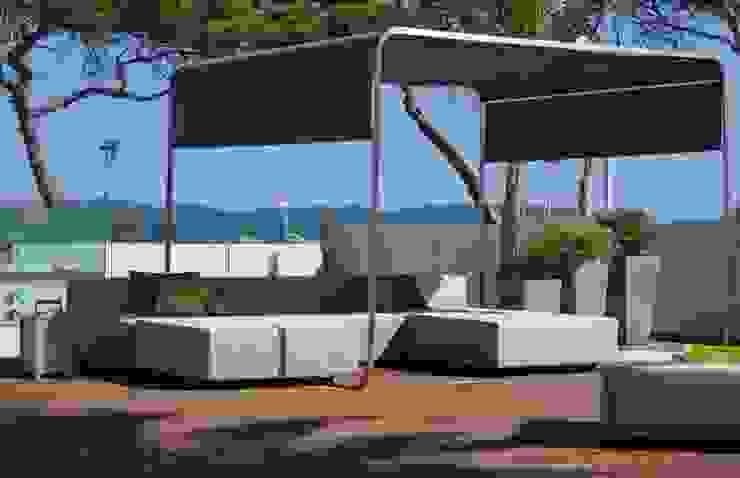 Terrasse avec vue sur les îles Balcon, Veranda & Terrasse modernes par Atelier TO-AU Moderne