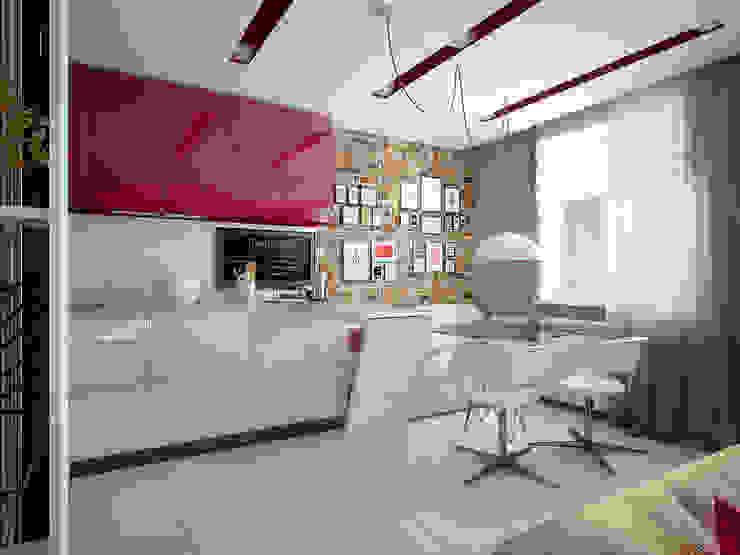 Проект квартиры для молодоженов Столовая комната в стиле минимализм от 'PRimeART' Минимализм