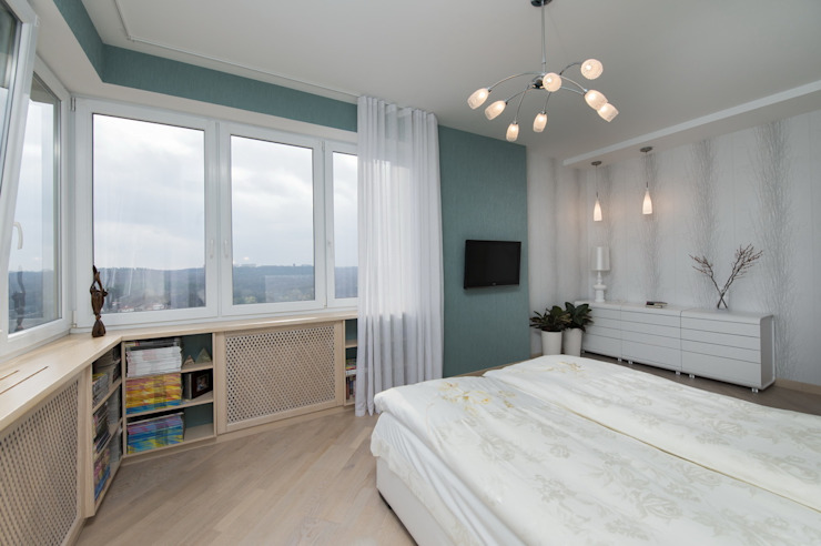 спальня в проекте Перламутр от S-studio