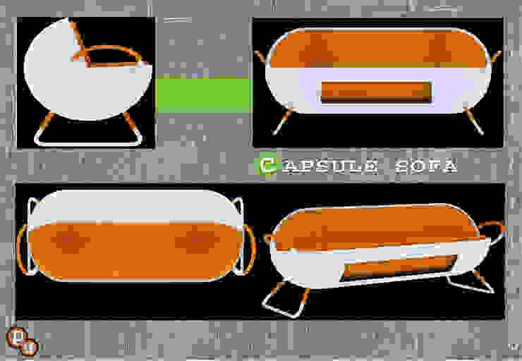 capsule sofa: minimalist  by Preetham  Interior Designer,Minimalist