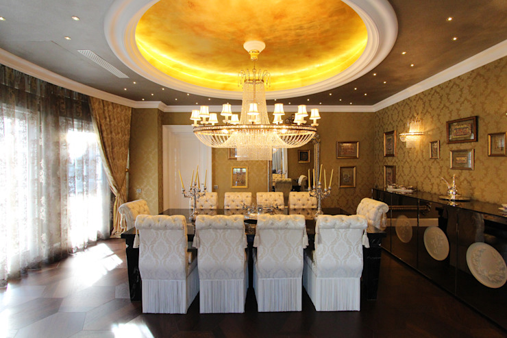 Contemporary Classical Villa in Kemer Golf & Country Classic style dining room by Orkun İndere Interiors Classic