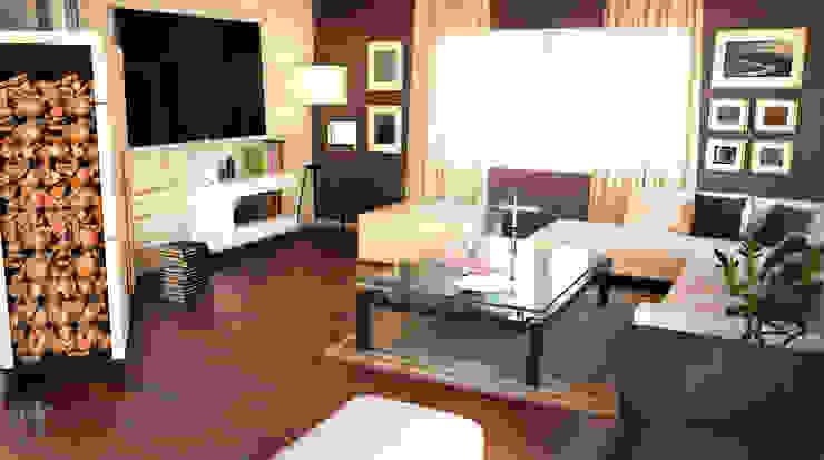 Private Villa_46 Modern Oturma Odası MHD Design Group Modern