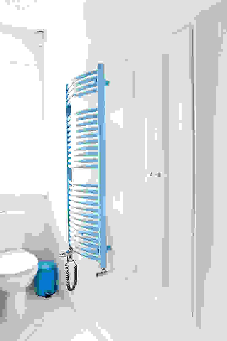 Dom jak z bajki. Skandynawska łazienka od Miśkiewicz Design Skandynawski