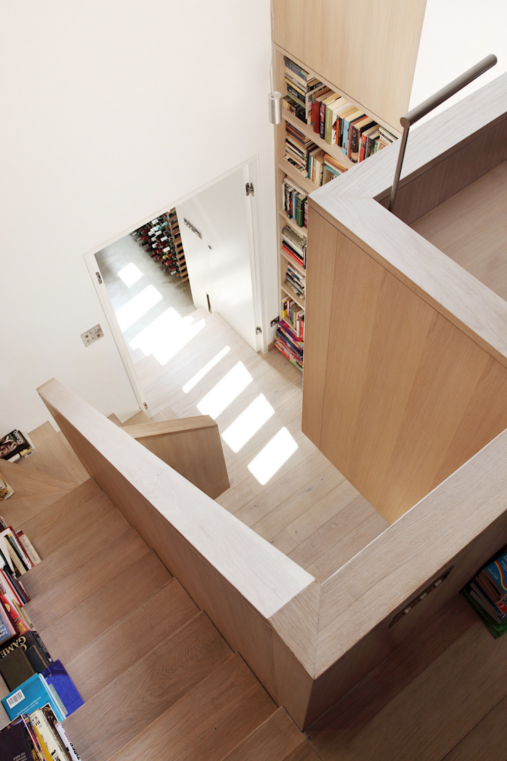 Book Tower House Modern corridor, hallway & stairs by Platform 5 Architects LLP Modern