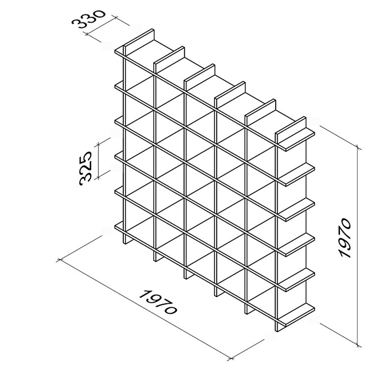 maße, gewicht pappregal von Frank Huster Minimalistisch