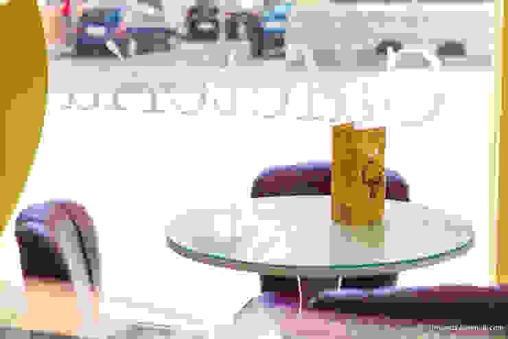 Cafetería Méndez Gold Gastronomía de estilo ecléctico de moreandmore design Ecléctico
