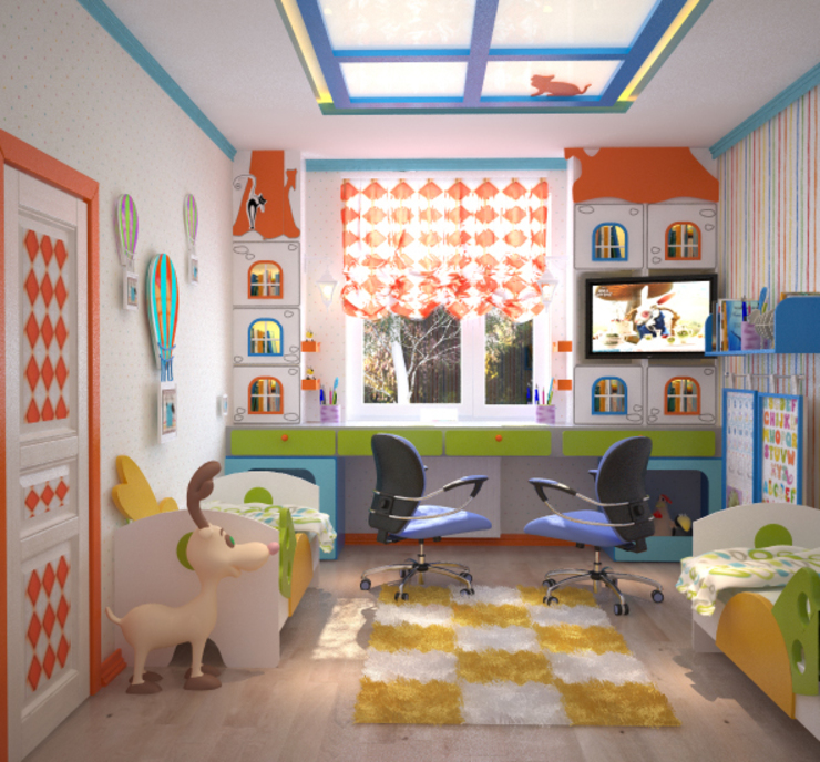 Дом в Средиземноморском стиле в Симферополе Детская комнатa в средиземноморском стиле от Студия дизайна Interior Design IDEAS Средиземноморский