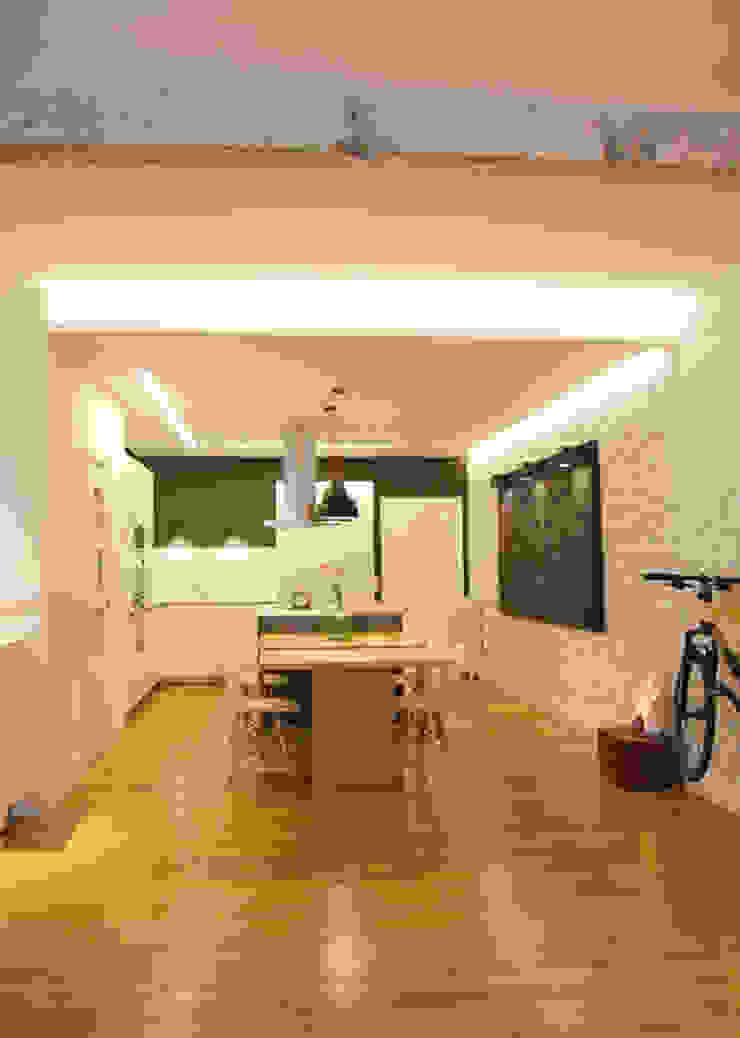 Sube Susaeta Interiorismo diseña y decora cocina abierta Casas de estilo moderno de Sube Susaeta Interiorismo Moderno