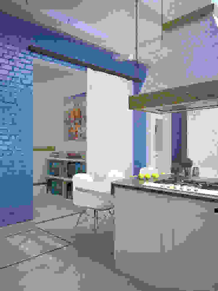 Дом в Средиземноморском стиле в Симферополе Кухня в средиземноморском стиле от Студия дизайна Interior Design IDEAS Средиземноморский