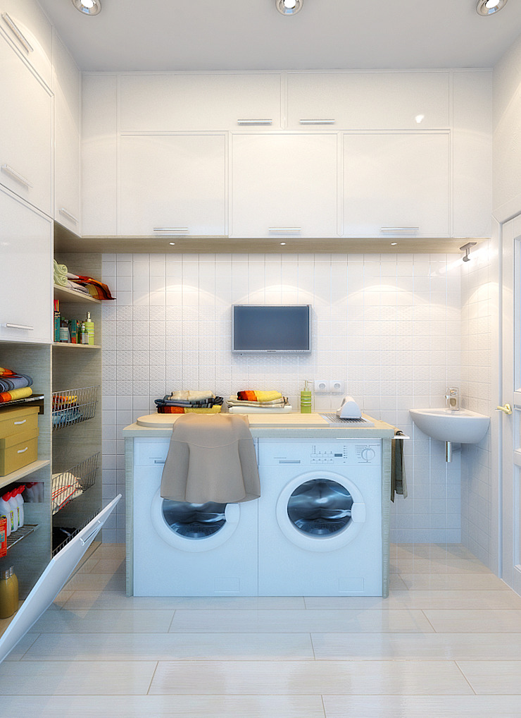 Дом в Средиземноморском стиле в Симферополе Гардеробная в средиземноморском стиле от Студия дизайна Interior Design IDEAS Средиземноморский