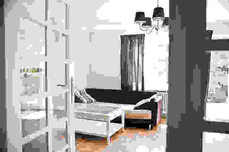 Dom jak z bajki. Skandynawski salon od Miśkiewicz Design Skandynawski