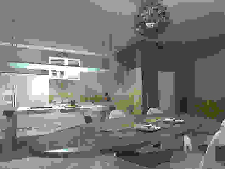 VISTA 2 Cucina in stile industriale di Davide Teli_ARCHITETTO Industrial