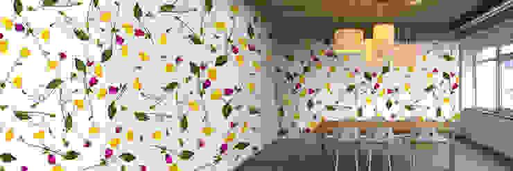 Muurbloem Design Studio_Collection Flowers + Leaves_YellowPoppy: modern  door Muurbloem Design Studio, Modern