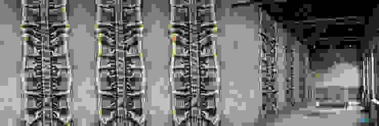 Muurbloem Design Studio_Collection Folds & Pleats_BlueJeansPleated Muurbloem Design Studio Muren & vloerenBehang