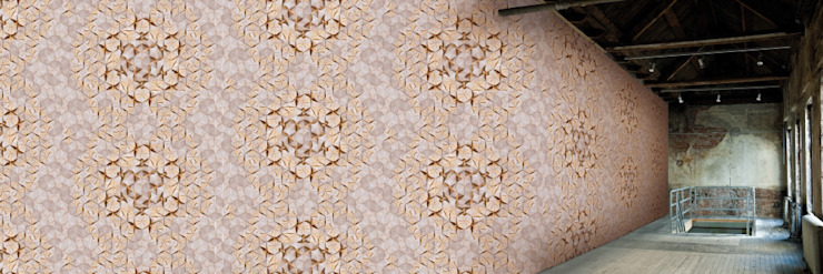 Muurbloem Design Studio_Collection Folds & Pleats_Ornamental_wallfashion: modern  door Muurbloem Design Studio, Modern
