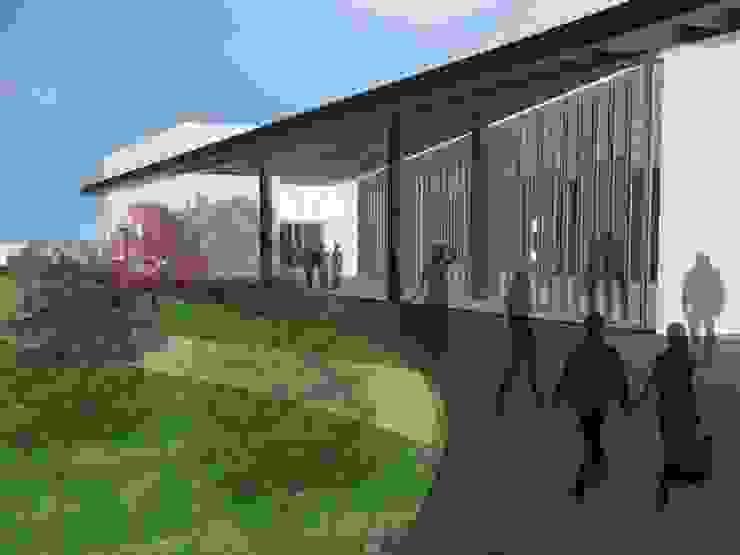 Acceso Principal Jardines de estilo moderno de Estudio de Arquitectura - Jose Luis Remacho Moderno