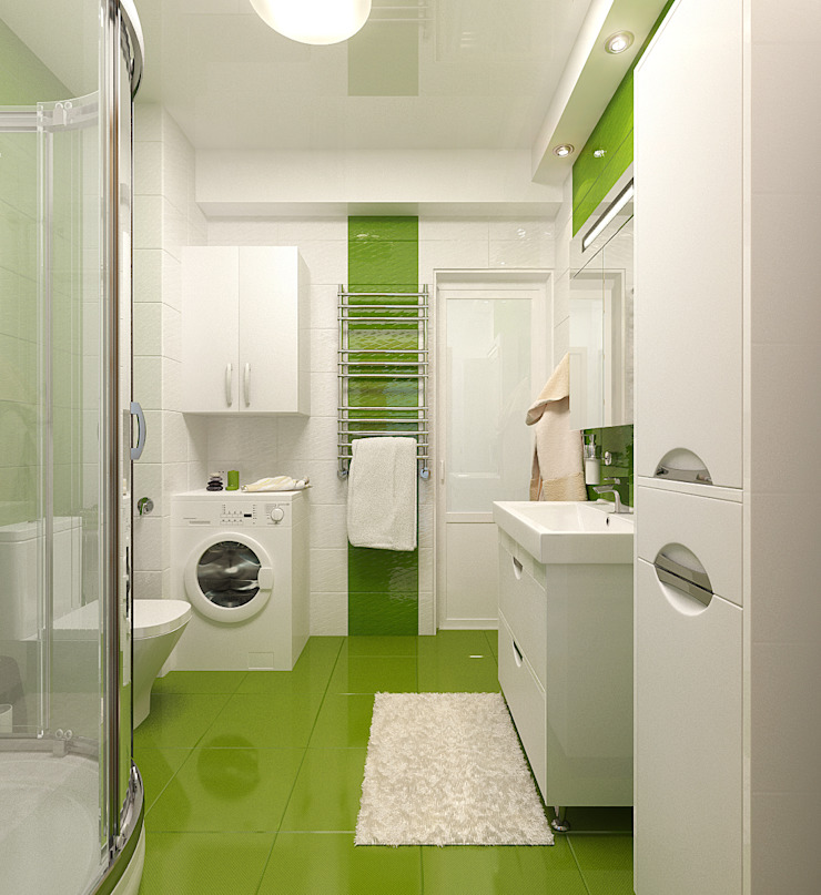 Дизайн квартиры в Севастополе в современном стиле Ванная комната в стиле минимализм от Студия дизайна Interior Design IDEAS Минимализм
