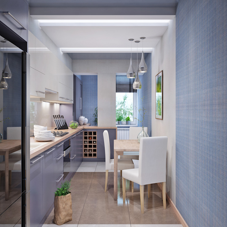 Cuisine minimaliste par Студия дизайна Interior Design IDEAS Minimaliste
