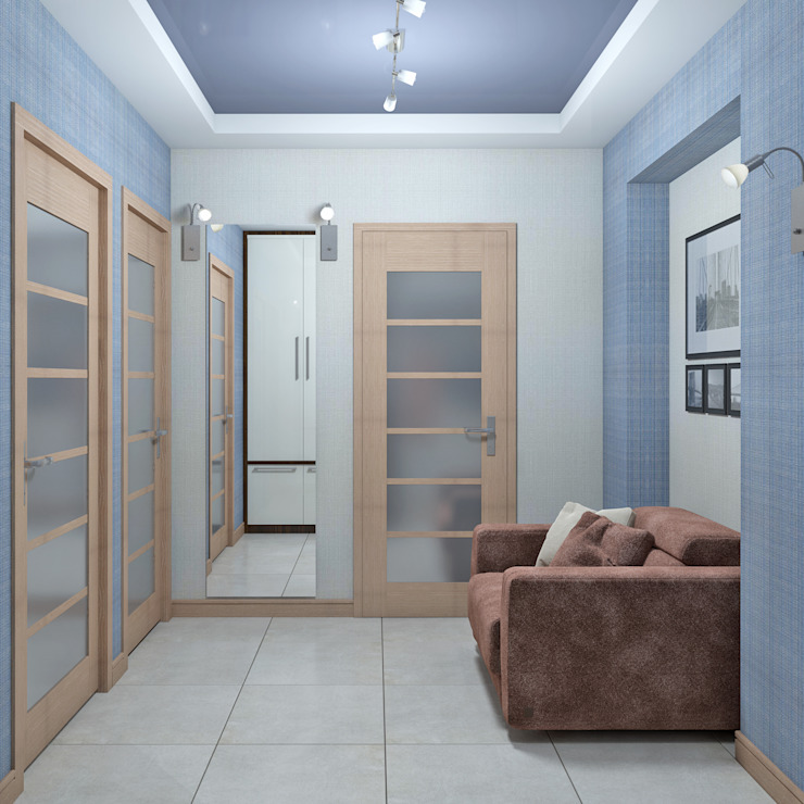 Дизайн квартиры в Севастополе в современном стиле Коридор, прихожая и лестница в стиле минимализм от Студия дизайна Interior Design IDEAS Минимализм