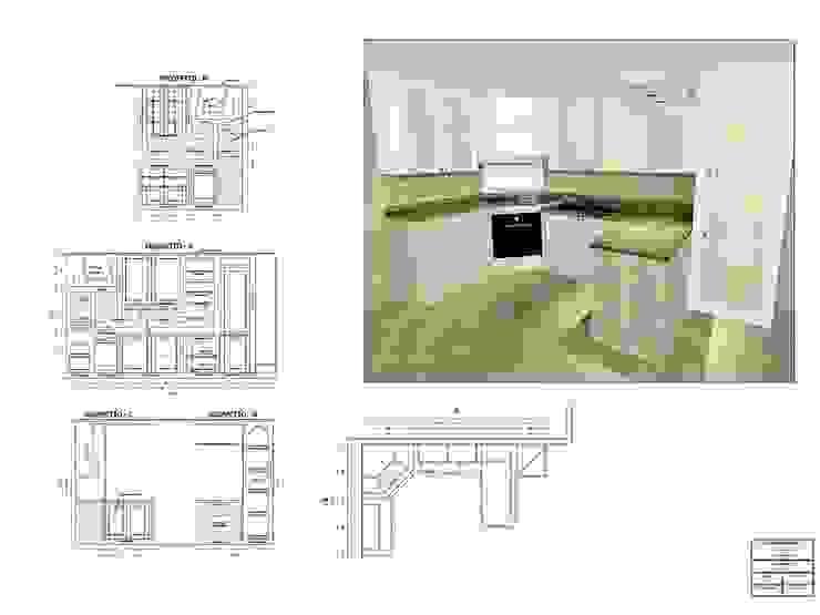 Cucina in muratura - Abano Terme (PD) di Simone Battistotti - SB design