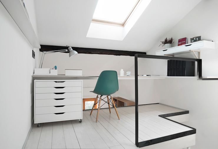 Minimalst style study/office by PLUS ULTRA studio Minimalist