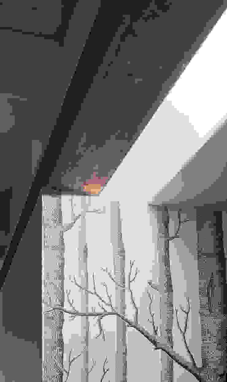 Dettaglio dell'illuminazione dell'ingresso Ingresso, Corridoio & Scale in stile moderno di PLUS ULTRA studio Moderno