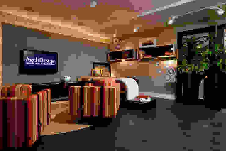 Escritório home office - CASA NOVA 2010 - (Fotos Hermes Bezerra) Edifícios comerciais ecléticos por ArchDesign STUDIO Eclético