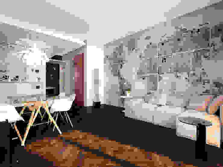 Minimalistische Wohnzimmer von Graziella Fittipaldi Architetto Minimalistisch