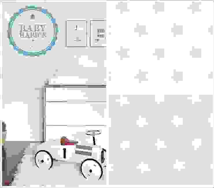 Puf BabyBasics DREAMS modelo Blue Stars de BabyBasics Clásico