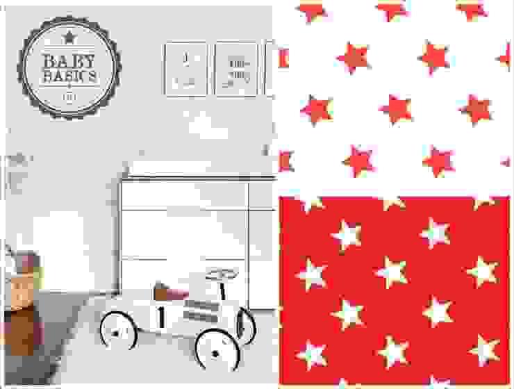 Puf BabyBasics DREAMS modelo Red Stars de BabyBasics Clásico