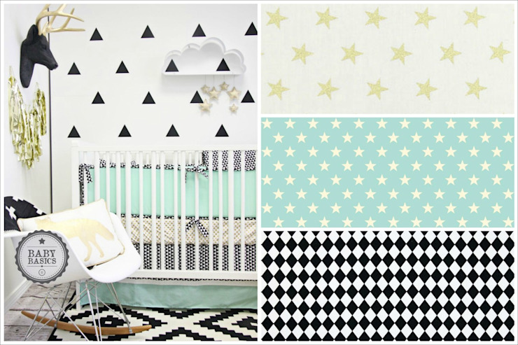 Black and Mint Inspiration de BabyBasics Moderno