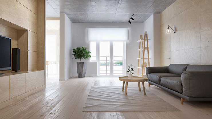 Living room by INT2architecture, Minimalist