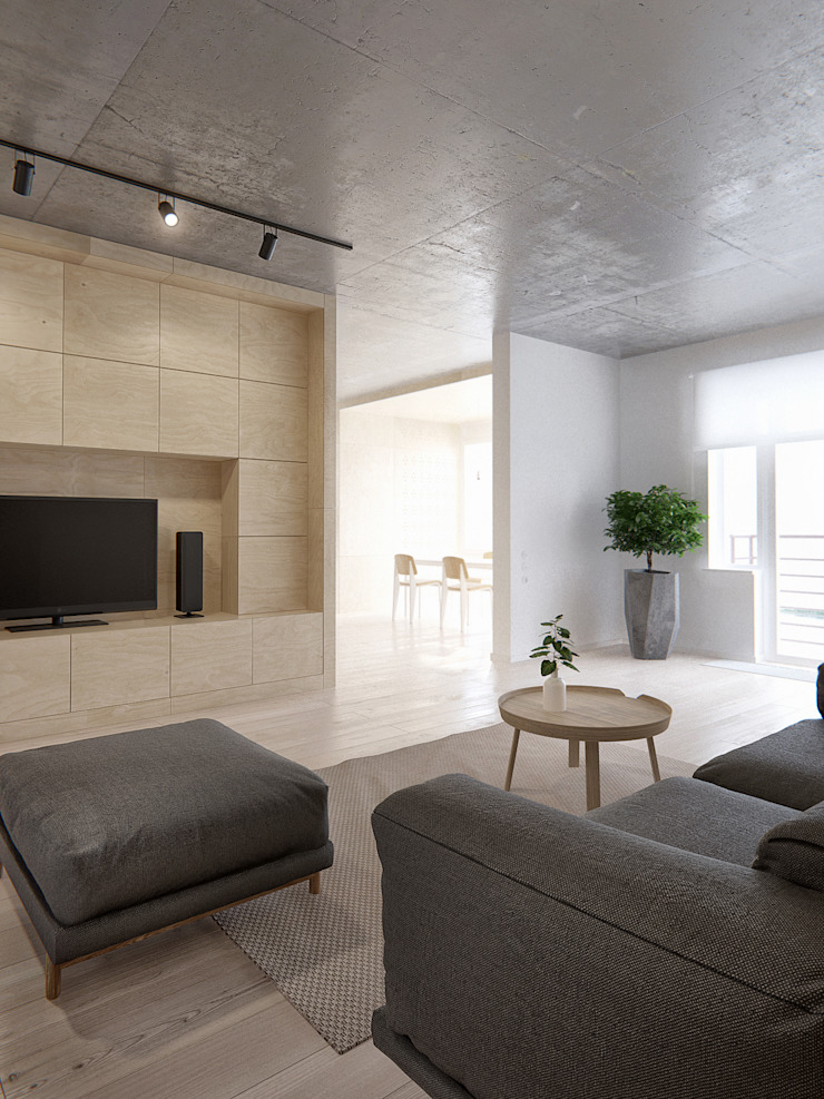 Minimalist living room by INT2architecture Minimalist