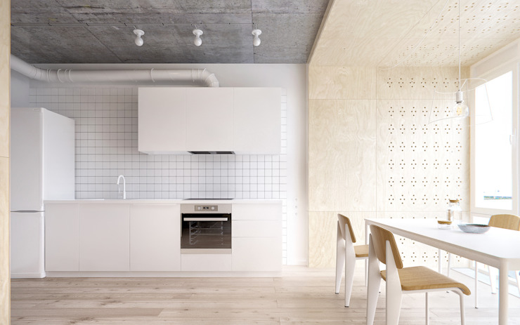 INT2architecture Minimalist kitchen