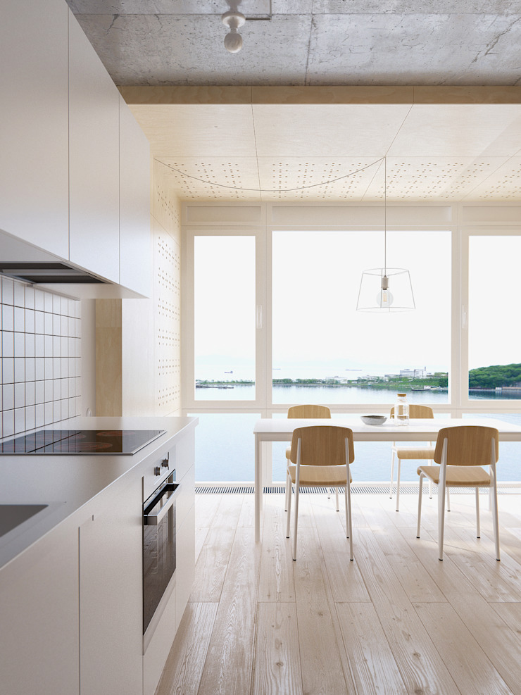 Minimalist dining room by INT2architecture Minimalist