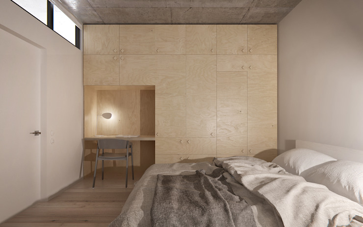 INT2architecture Minimalist bedroom