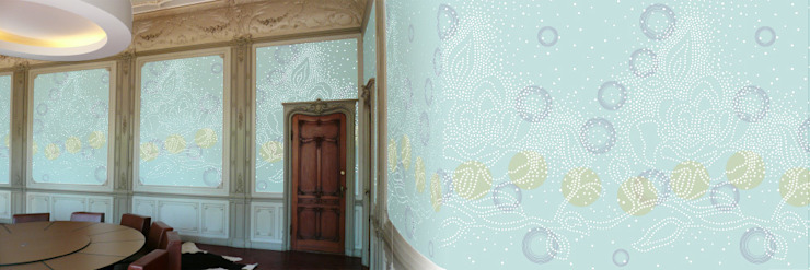 Muurbloem Design Studio_Collection Dots_FirstFlower_lGY: modern  door Muurbloem Design Studio, Modern